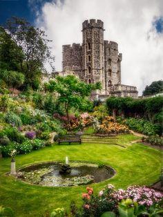The Queen's Garden - Windsor Castle, England.  I've been to Windsor Castle but I missed this garden!