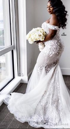 Buy wholesale lace luxurious 2016 arabic plus size wedding dresses sweetheart beaded mermaid illusion bridal dresses sexy vintage wedding gowns which . Wedding Dress Black, Plus Size Wedding Gowns, African Wedding Dress, Sweetheart Wedding Dress, Lace Mermaid Wedding Dress, Wedding Dresses Plus Size, Dream Wedding Dresses, Bridal Dresses, Lace Wedding