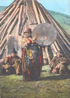 Shaman Siberia, postal (postcard)