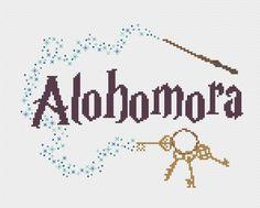 PDF Alohomora Harry Potter Cross Stitch Pattern by CarlyDoodles Colchas Harry Potter, Harry Potter Crochet, Harry Potter Quilt, Cross Stitch Love, Cross Stitch Designs, Cross Stitch Patterns, Beading Patterns, Embroidery Patterns, Crochet Patterns