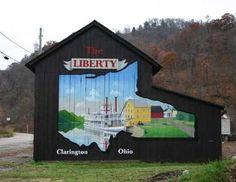 Liberty Barn  Location:  In Clarington, on Rt # 7  Monroe Co - OH
