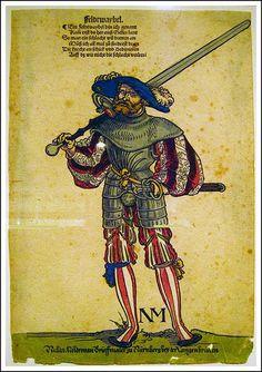 Sebald Beham, Corporal of the field. c 1530
