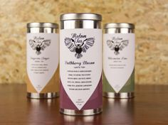 Wisdom Tea Packaging by Ashley Kilgas, via Behance