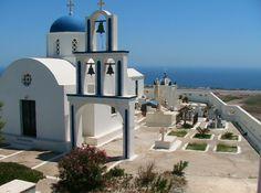 Church in Pyrgos Santorini Suites, International Airport, Old Things, Villa, Island, Beach, Block Island, The Beach, Seaside