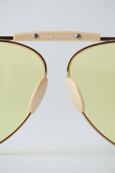 0aec590341d Acne Studios Howard pale gold yellow are handmade eyewear inspired by  traditional