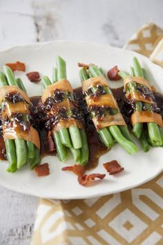 Green Bean Bundles with Bacon Vinaigrette