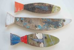 Rustic.... check it out....fish made from pieces of old boats.  www.fish-and-ships.com
