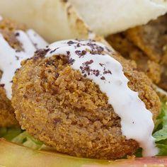Falafel o hamburguesa de garbanzos. Receta árabe para niños