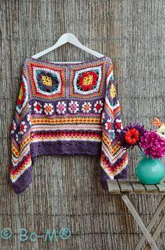 Resultado de imagen para girl crochet poncho flowers