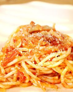 This delicious recipe for Bucatini All'Amatriciana is courtesy of Michael Tucker and was adapted from the New York Times.