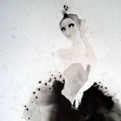 Ballet Dancer 4 [Illustration-A2173] - $500.00 painting by oilpaintingsartmaker.com