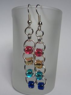 Hey, I found this really awesome Etsy listing at https://www.etsy.com/listing/190875417/chainmaille-earrings-with-autism-colour