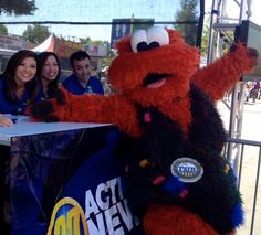 It can get a little crazy at the @ABC30 Action News booth during the Big Fresno Fair.  Anchor Margot Kim, Christine Park and Jason Oliveira keep smiling through it all.
