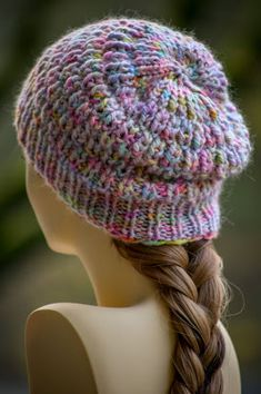 Ramble On Beanie: made with roughly 80 - 120 yards of bulky weight yarn and size US 10.5 needles