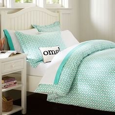 21 trendy bedroom ideas for teen girls mint duvet covers Dorm Room Bedding, Teen Bedding, Bedding Sets, Teen Comforters, Mint Bedding, Purple Duvet, Bed Rooms, Bedspreads, Teen Girl Bedrooms