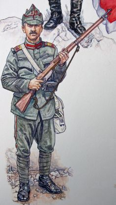 Items similar to Romanian and Montenegrin Armies - Armies of the Balkan Wars 1912 - 1913 - Osprey Artwork on Etsy Military Police, Army, Military Uniforms, Les Balkans, Osprey Publishing, Military Diorama, Modern Warfare, Historical Costume, World War I