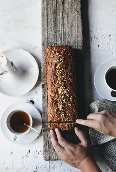 Zucchini bread for breakfast. Adapted from Smitten Kitchen | At the breakfast table