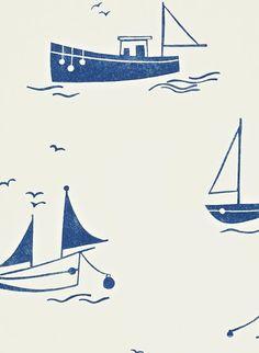 Skipper - Kindertapete von Harlequin - Dunkelblau