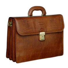 Buy Maxwell Scott® Classic Leather Briefcase for Men - in tan 25fd6b469f21a