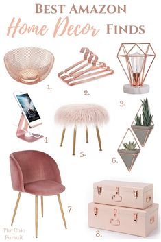 Best Gold Home Decor Accents: the best gold ideas for a beautiful home! - - Best Gold Home Decor Accents: the best gold ideas for a beautiful home! Whether you prefer rose gold home decor or gold house decor, we've selected th. Rose Gold Room Decor, Rose Gold Rooms, Gold Home Decor, Cheap Home Decor, Diy Home Decor, Bedroom Ideas Rose Gold, Room Decor Bedroom Rose Gold, Trendy Home Decor, Gold Bedroom Accents