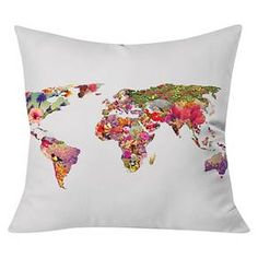 Bianca Its Your World Throw Pillow White. This is too perfect.