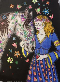 Horse Coloring Pages, Wonders Of The World, Princess Zelda, Horses, Amazon, Fictional Characters, Art, Art Background, Amazons