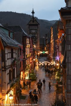 Riquewihr, Alsace at dusk...I'm in love with Alsace!!