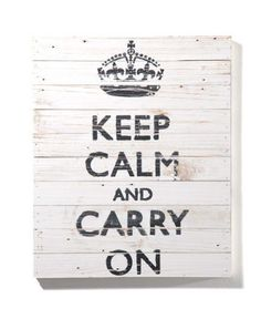 The Brits had it right when they used this in their campaign to keep people calm during the war...still works today!