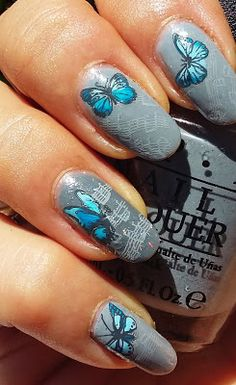 framboise nail art stamping