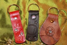 Shelly Jack Handmade Leather Stamped Key Fobs http://www.etsy.com/shop/shellyjackhandmade