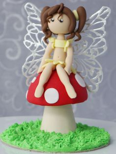 Fondant fairy figurine by Kelly's Cake Toppers