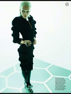 Numero Editorial December-January - Toni Garrn by Greg Kadel Toni Garrn, Greg Kadel, Back To Black, Black And Grey, Editorial Photography, Fashion Photography, Italian Luxury Brands, Post Apocalyptic Fashion, Conceptual Fashion