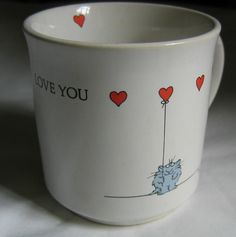 Sandra Boynton Love You Mug Cat with Heart Balloon