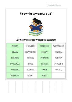 BLOG EDUKACYJNY DLA DZIECI Learn Polish, Polish Language, Gernal Knowledge, Montessori, Hand Lettering, Classroom, Study, Education, Learning