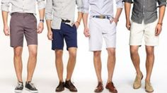 Snazzy looking shorts/shoes combos with a button down