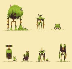 [OC] Overgrowth Collective : PixelArt
