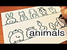 Art Collab with Sarah!  How to Draw Cute and Easy 10 Animal's Back Doodl...