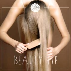 #TipTuesday Use a natural-bristle brush, it is softer and more flexible, which means less damage to your hair. #BeautyTip