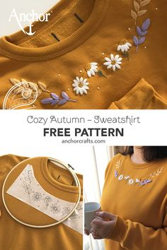 Free Pattern Embroidered Sweater | Autumn Feel