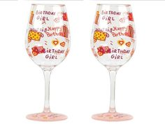 $13.60-$17.50 Partyware to go- anywhere and anytime. Set of 2 stylish acrylic wine glasses decorated in Lolita patterns add fun to any occasion and make a great gift for so many occasions. Wine cocktail recipe on the bottom of every glass. Each glass is 8-3/4-Inch tall and 3-1/2-Inch diameter; holds 16-Ounce. Whatever your guests are drinking will taste even better in these glasses. Hand washing ...