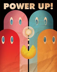 Retro Pac Man Propaganda Poster by ~skullx on deviantART Video Game Posters, Video Game Art, Video Games, Movie Posters, Pac Man, League Of Legends, Propaganda Art, Retro Videos, Illustrations