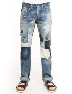 Patch it up with the PRPS Noir Baboon Jean, made from 13.5 oz denim featuring a unique patchwork construction with varying treatments and textures for a truly eclectic, one of a kind look. Demon fit is mid rise and slim.