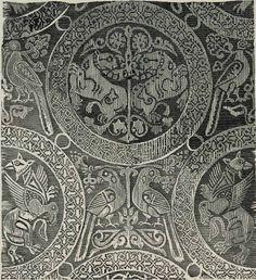 Shroud of Henry the Saint, Bamberg, Germany, 11thc silk, Cairo