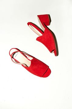 No.6 Linda Covered Heel in Flame Suede
