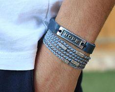 Trendy jewelry with a twist by AdiliArt Bohemian Bracelets, Bracelets For Men, Handmade Bracelets, Fashion Bracelets, Jewelry Bracelets, Men's Jewelry, Blue Bracelets, Unique Gifts For Men, Trendy Jewelry