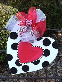Valentines day heart door hanger on Etsy, $40.00