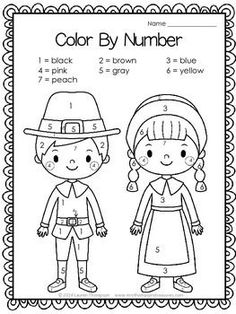 Printables Free Thanksgiving pilgrims color by number!:Free Thanksgiving pilgrims color by number! Free Thanksgiving Printables, Thanksgiving Coloring Pages, Thanksgiving Activities For Kids, Holiday Activities, Kindergarten Thanksgiving, Pilgrims Thanksgiving, Thanksgiving Prayer, Thanksgiving Appetizers, Thanksgiving Outfit