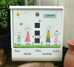 Briefkasten+♥♥♥Strichmännchen♥♥♥+von+KirSchenrot+auf+DaWanda.com