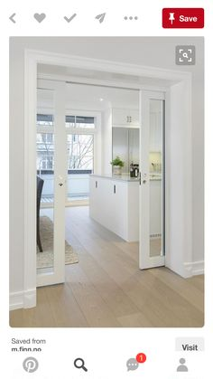 kitchen doors INTERIOR- The doors provide privacy and reduce noise between premises. If it comes to a smaller space, sliding doors are suitable option, because the opening and closing ta Kitchen Doors, Kitchen Flooring, Closed Kitchen, Sliding Door Design, Interior Sliding Doors, Interior Glass Doors, Best Sliding Glass Doors, Cavity Sliding Doors, Sliding Pocket Doors