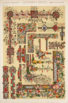 Jones, Owen / The grammar of ornament (1910). Medieval Ornament: Illuminated Manuscripts.